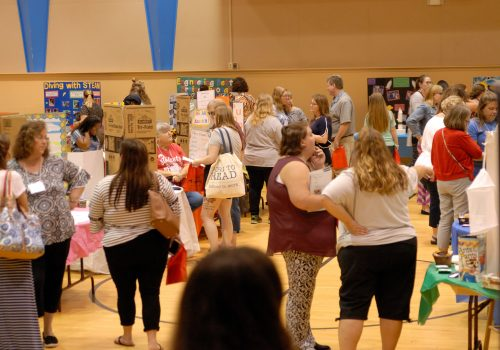 Photo of the visitors viewing the IDEA Expo