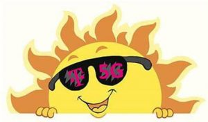 t-mobile Sun with sunglasses on