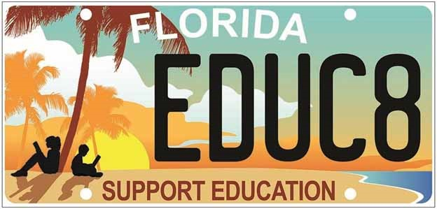 Image of the Support Education license plate