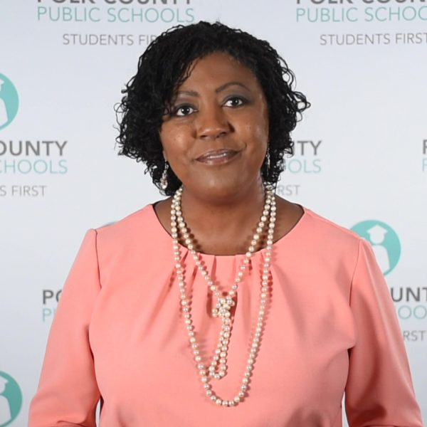 Superintendent Byrd delivering her end-of-year message