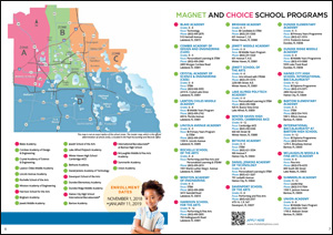 2018 Magnet Choice Zone Map of Polk County