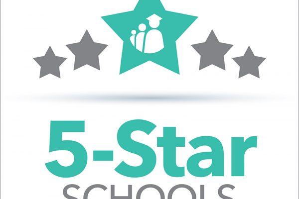 5 star icons with Polk County Public Schools Logo
