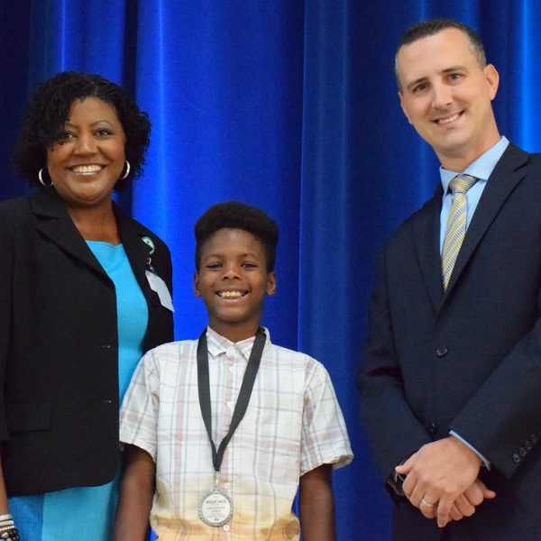 Superintendent Byrd at the About-Face Awards