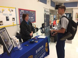 Students attending a job fair at Bartow High