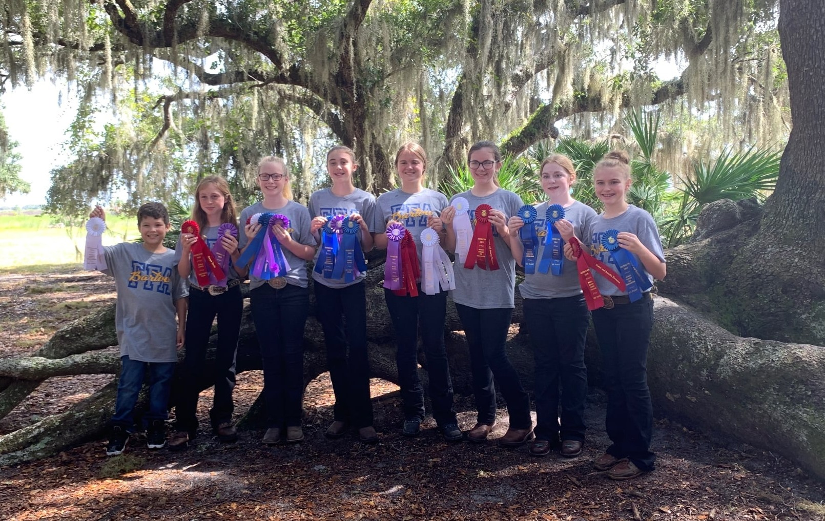 Photo of Bartow Middle FFA students