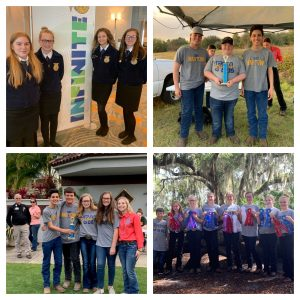 Collage of Bartow Middle FFA students