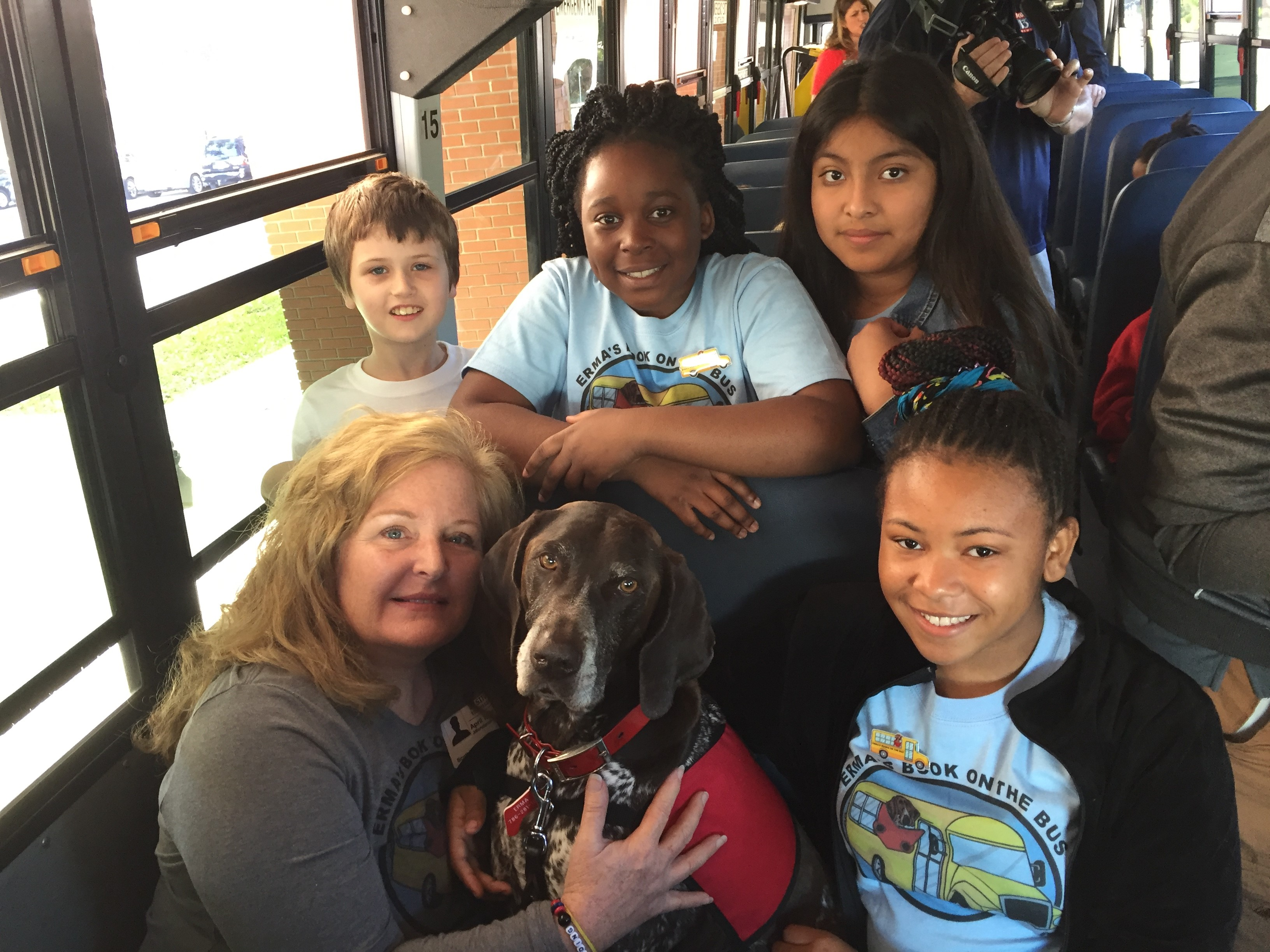 Photos from the Erma's Books on the Bus kickoff event at Scott Lake Elementary