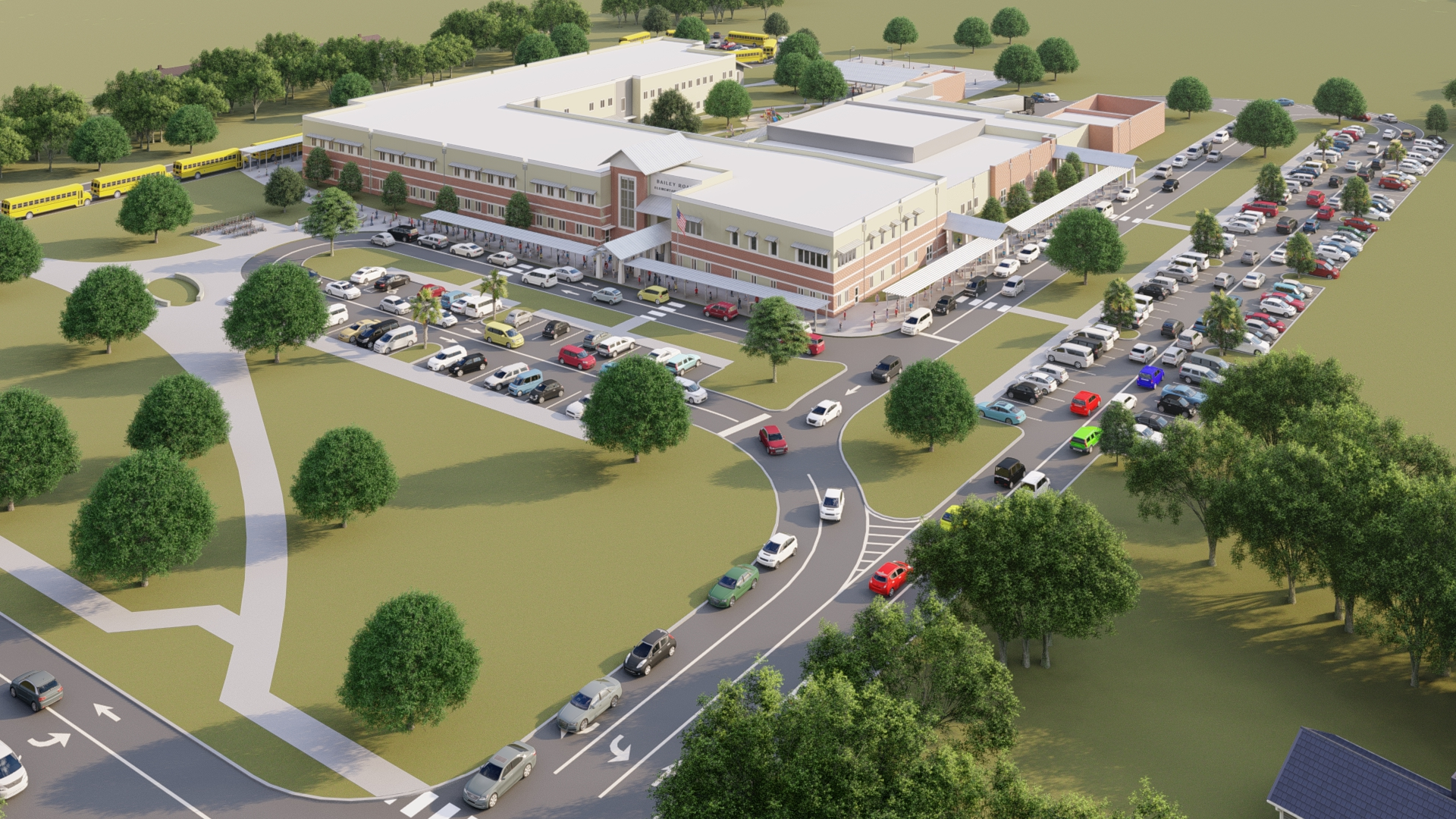 Rendering of Bailey Road elementary school