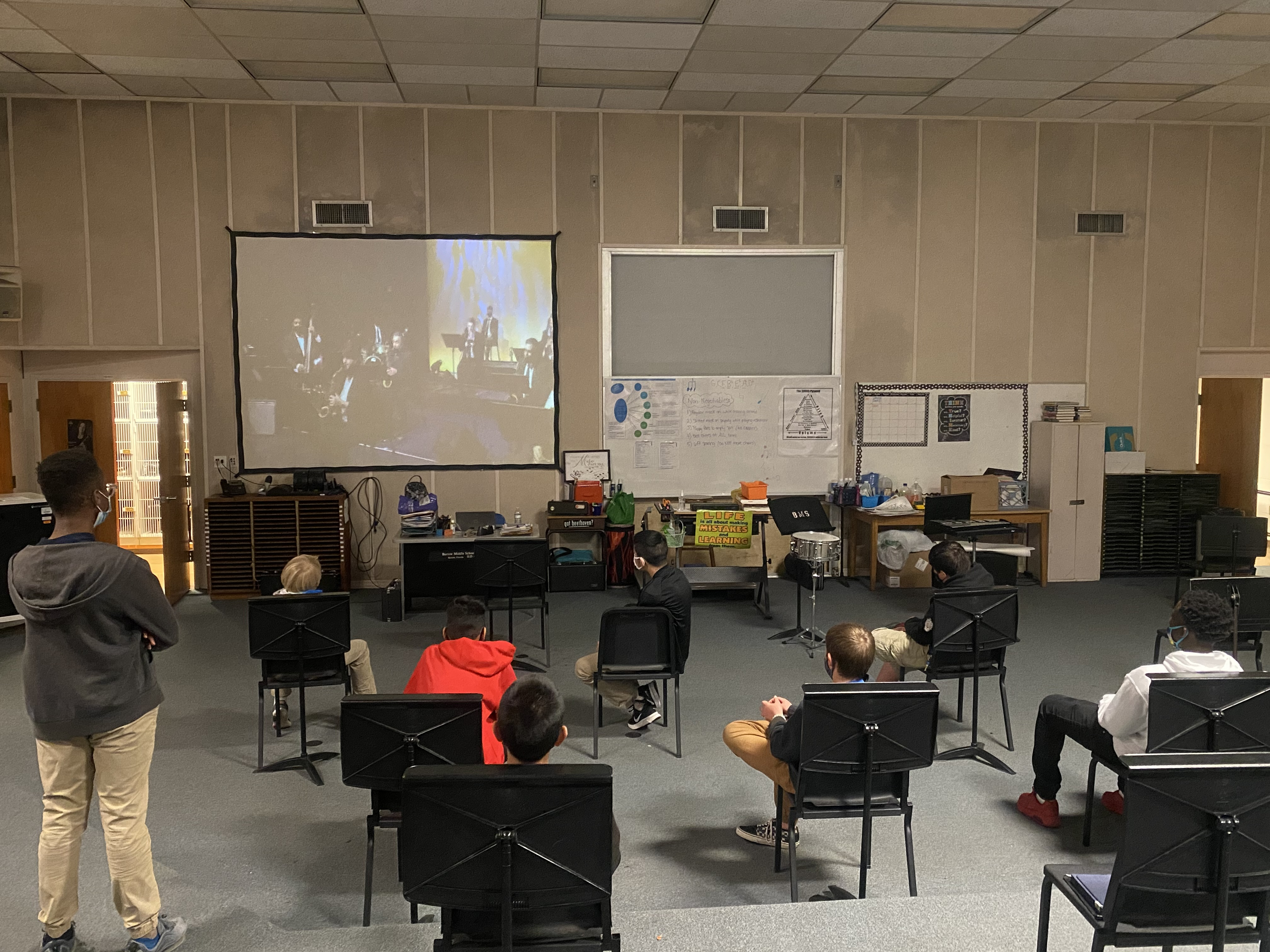 """PCPS students viewing """"Let Freedom Ring"""" concert in their classrooms"""