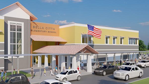 Exterior render of Bella Citta Elementary