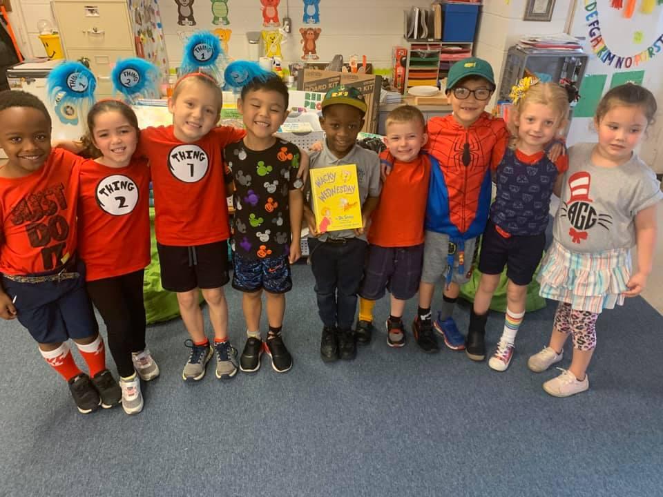 Kindergarten students at Brigham Academy