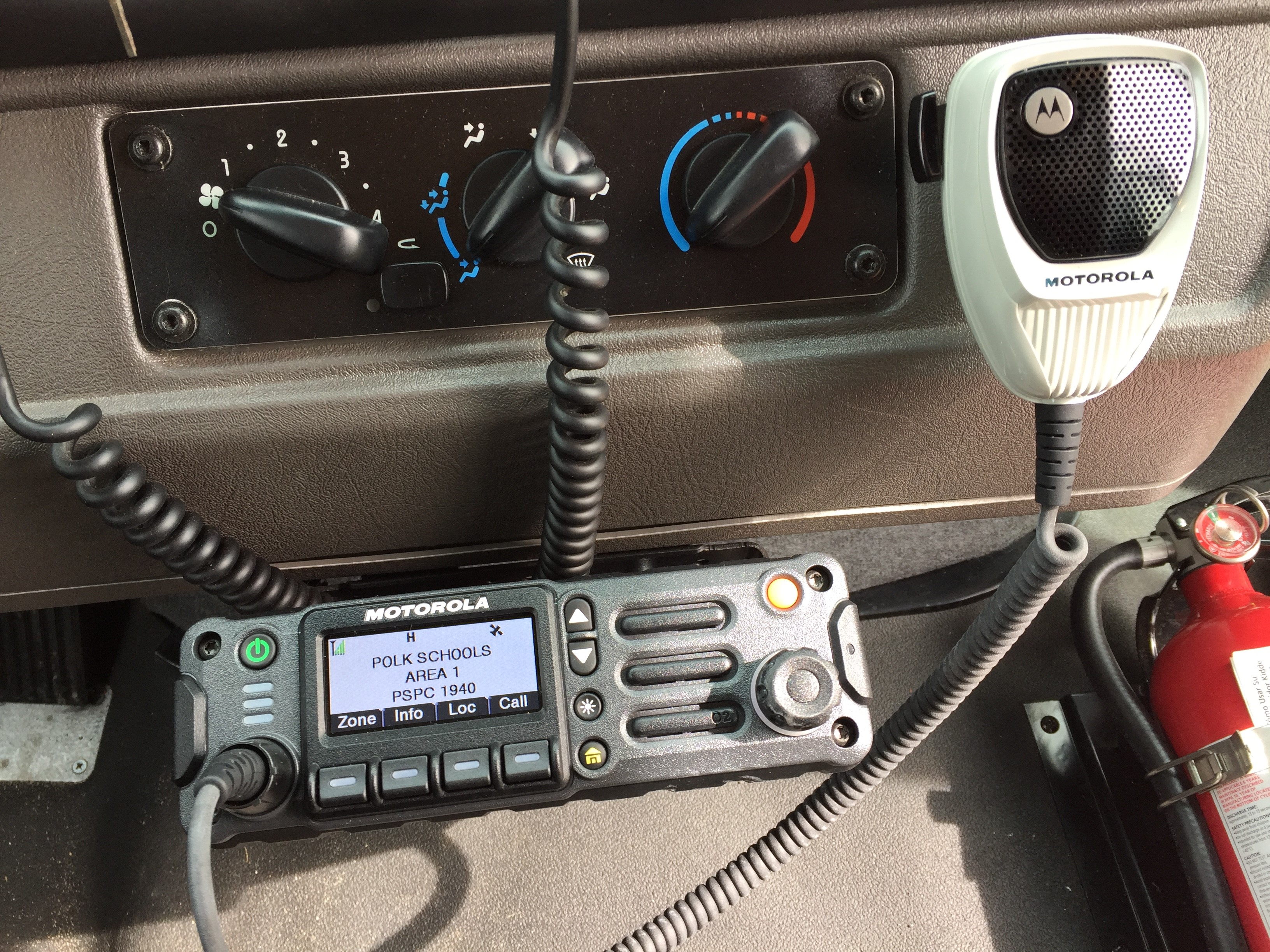 New radio used by PCPS school buses