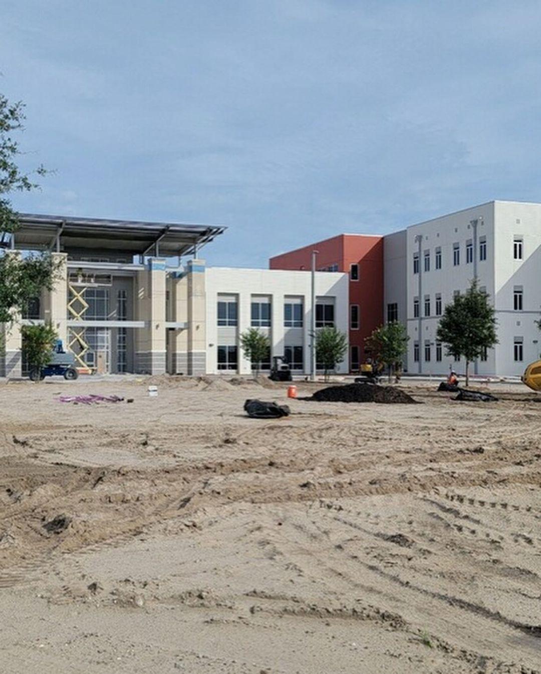Davenport High construction photo
