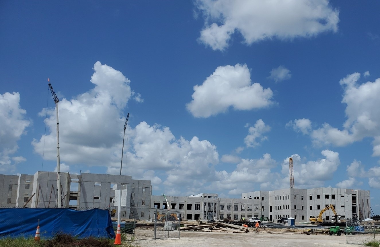 Photo of Davenport High under construction