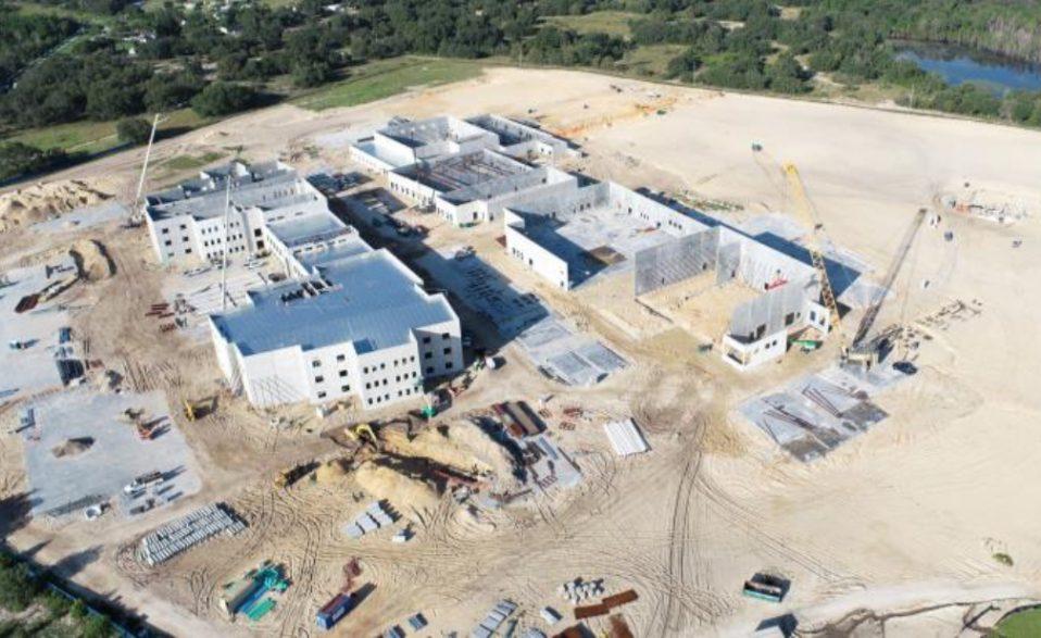 Photo of new high school under construction in Davenport