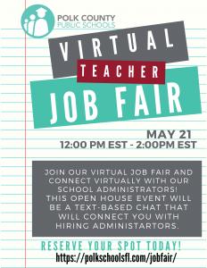 Online job fair flyer