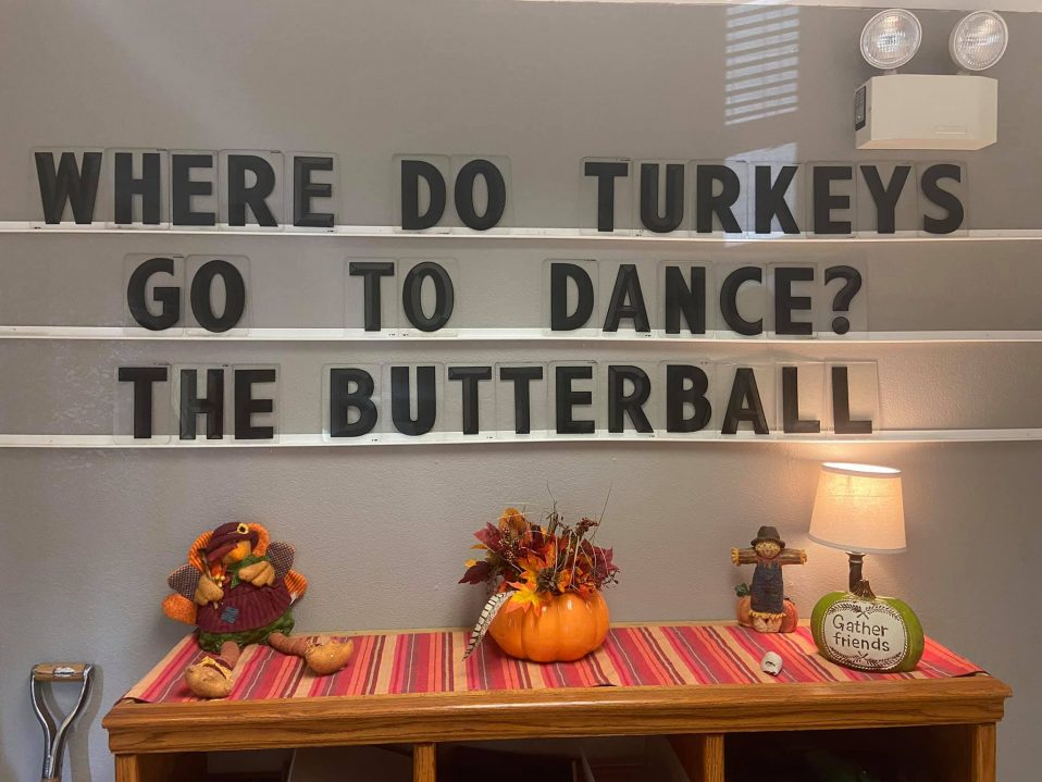 Photo of a Thanksgiving display