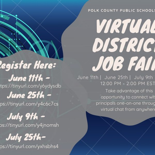 Virtual job fair flyer