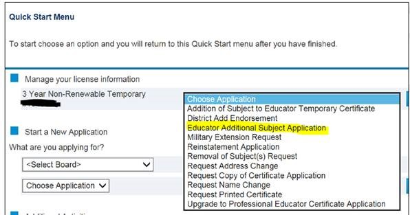 Image of Educator Additional Subject Application Instructions