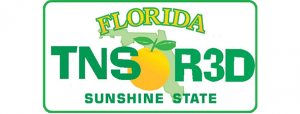 Florida TNS R3D Sunshine State License Plate (Florida Teens Read)