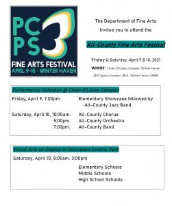 Fine Arts Festival flyer