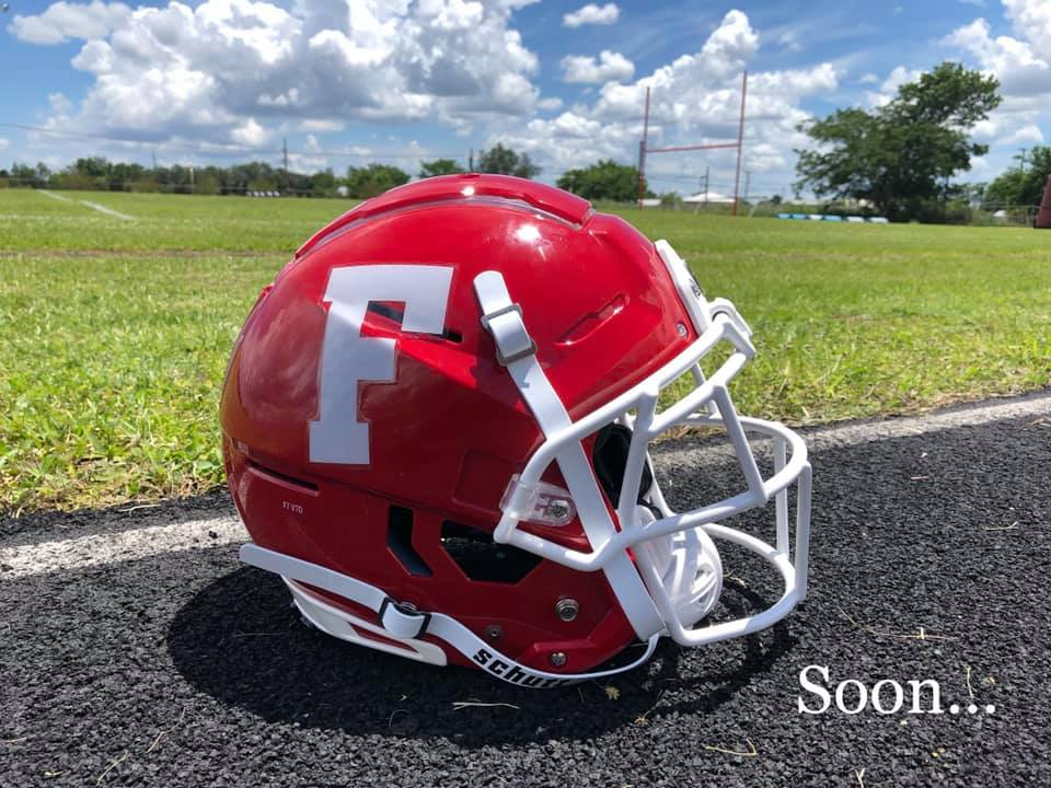 Picture of a Frostproof High football helmet