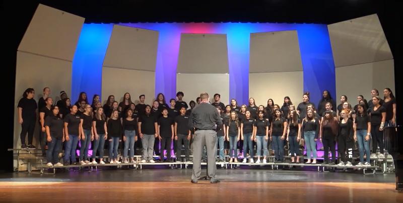 A photo of the Frostproof High choir.