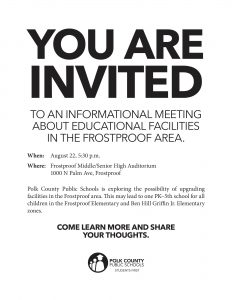 Frostproof area meeting flyer