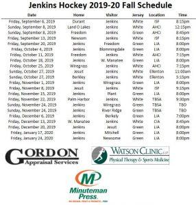 GJHS Ice Hockey Schedule