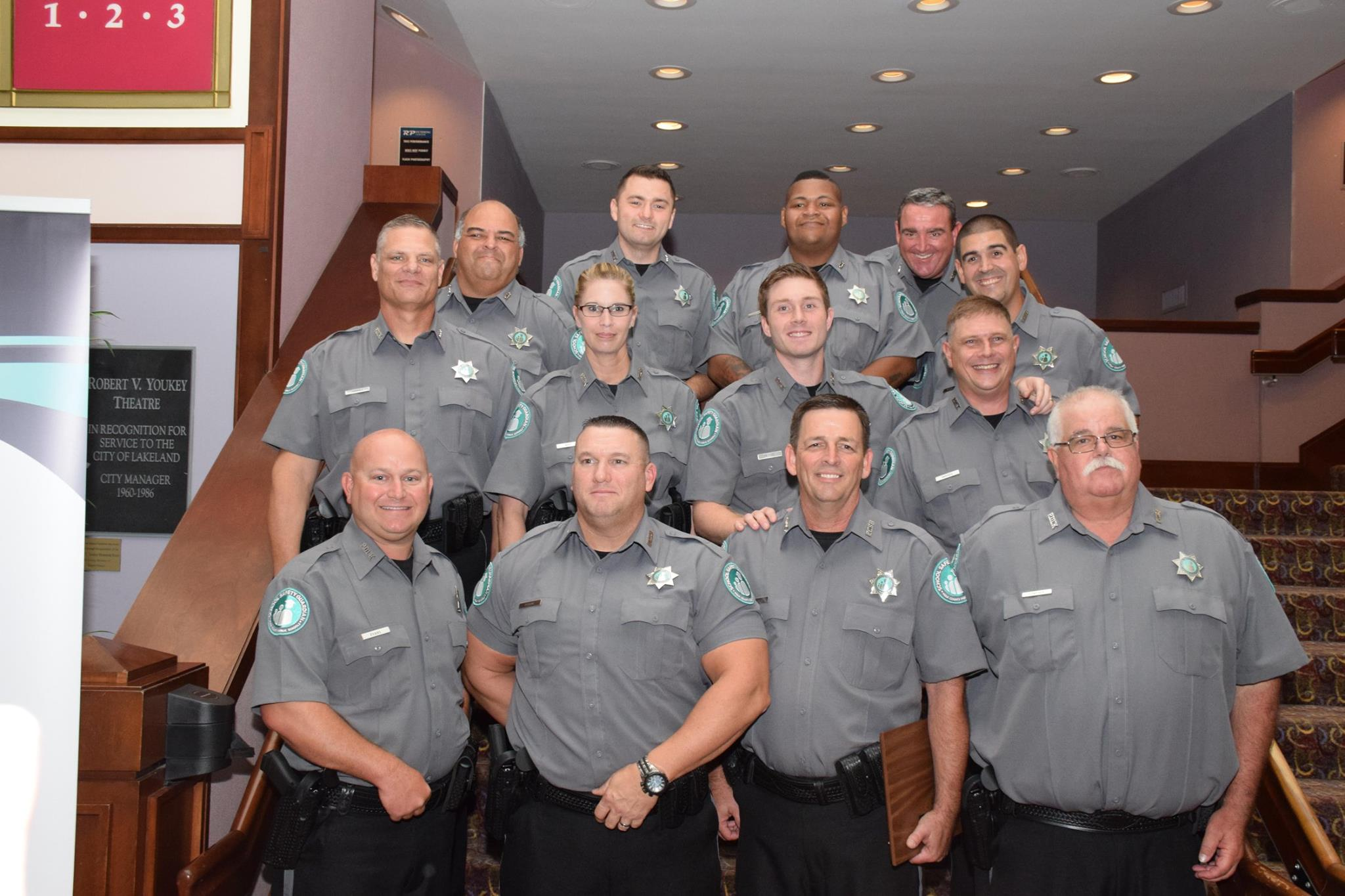 Members of the first class of Polk County's School Safety Guardians.