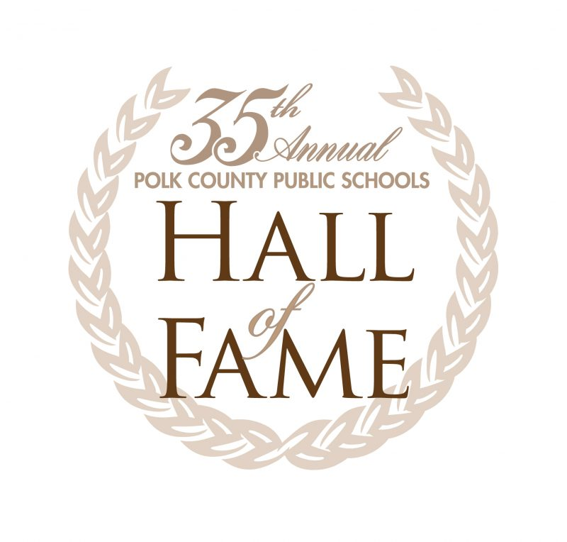 Logo for the 35th annual Polk County Public Schools Hall of Fame