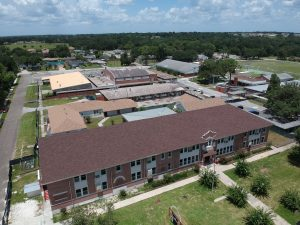 An aerial photo of the repaired Kathleen Middle