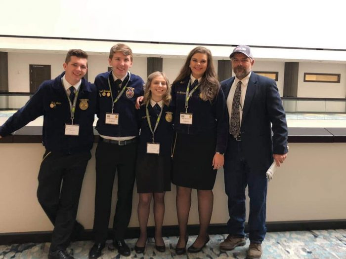 The Kathleen High team at the 2018 FFA Convention.