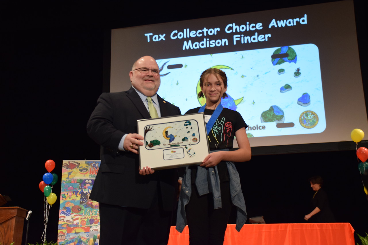 A photo from the Polk County Kids Tag Art award ceremony
