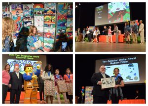 A photo collage from the Polk County Kids Tag Art awards ceremony