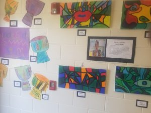 Black History Month artwork produced by students at Lake Alfred Elementary