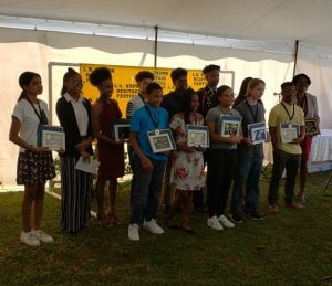 Student winners of the Youth Leadership Awards