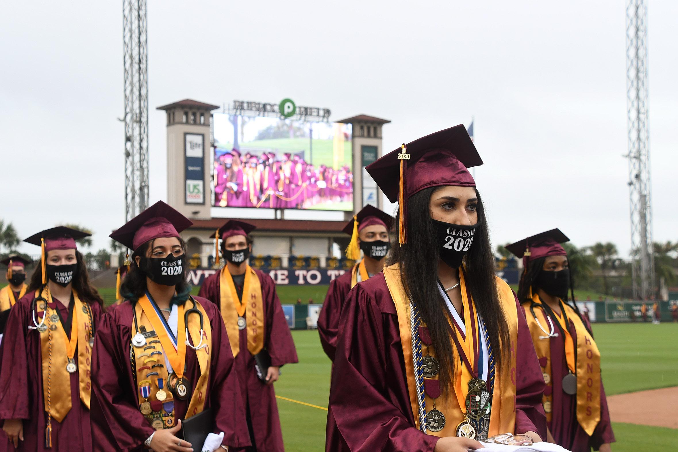Lake Gibson High students at graduation