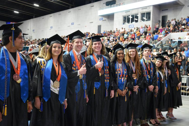 A photo of Lakeland High graduates.