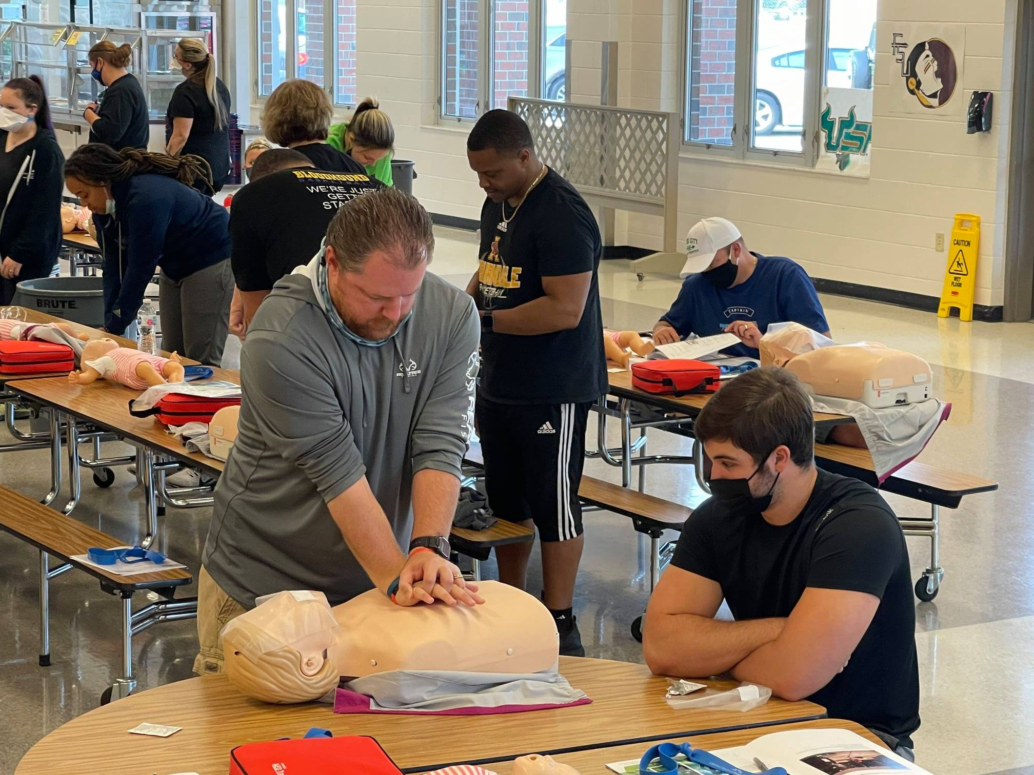 Photo of CPR and AED training