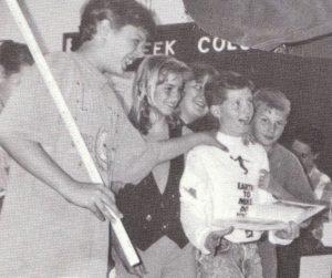 Derek Hall (left) and Robert Clark (middle) at Lake Shipp Elementary
