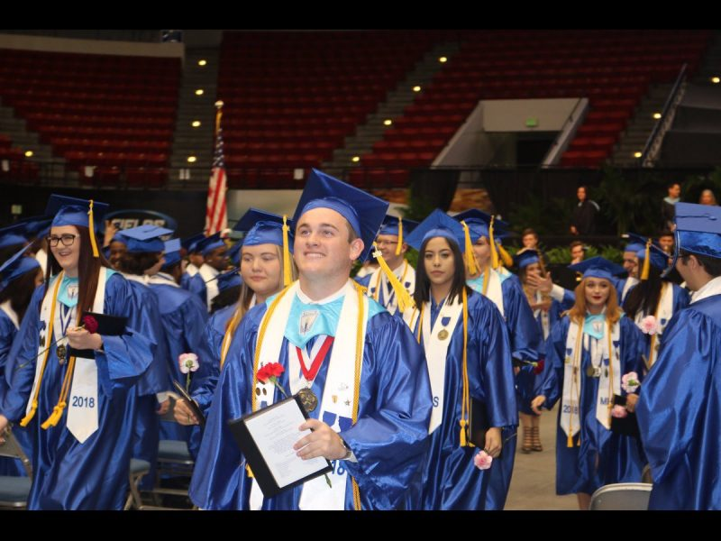 A photo from 2017-18 graduation.