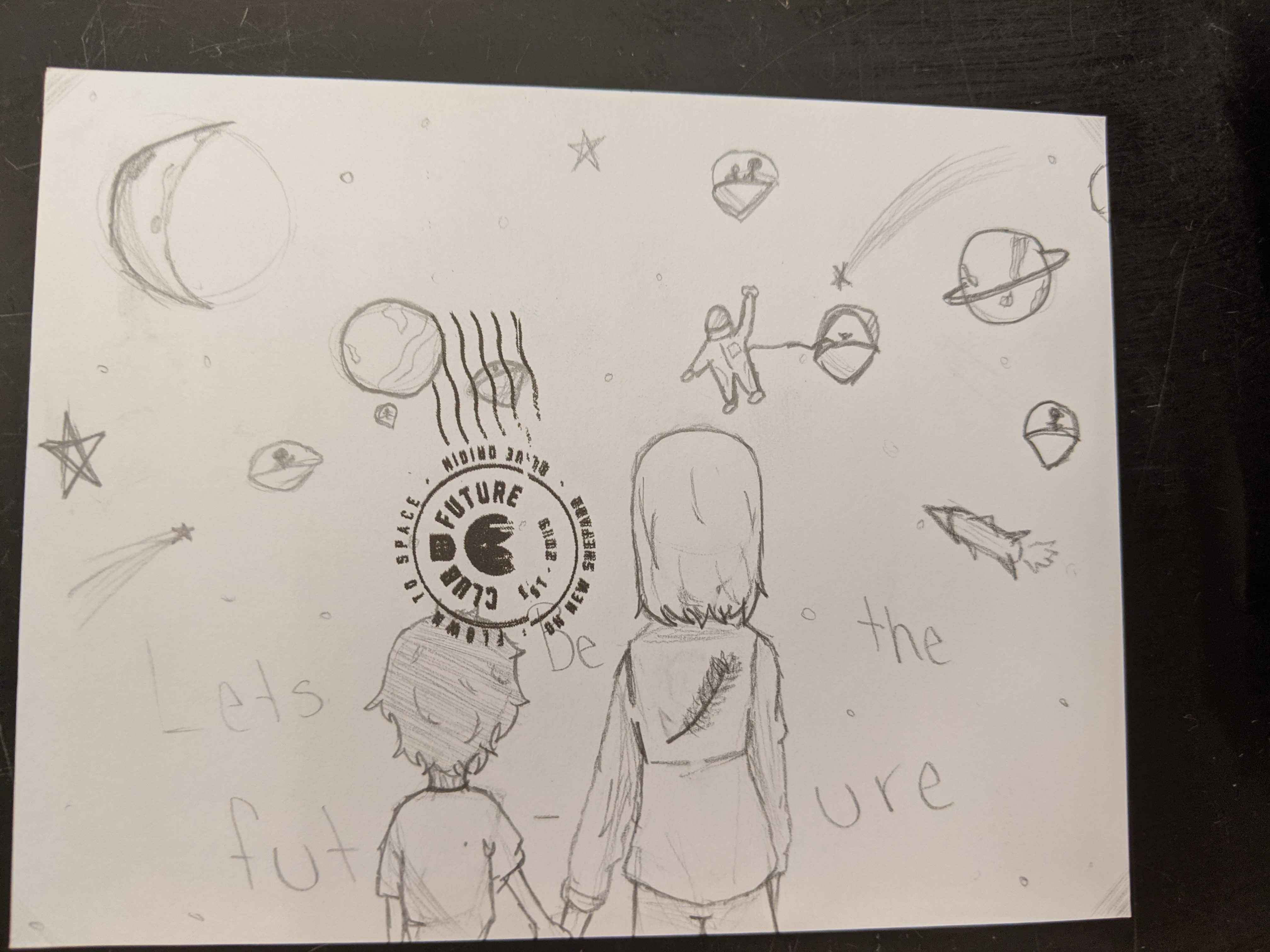 A postcard created by a MMS student