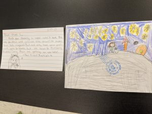 An MMS student's message to an unknown elementary school student.