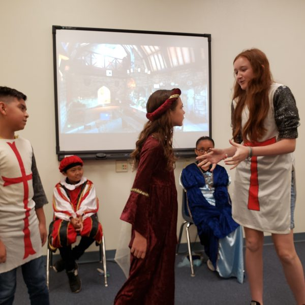 R. Bruce Wagner students performing their satire of