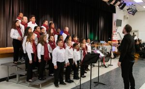 Students singing at McLaughlin Middle's Winter Gala