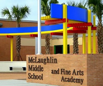 Exterior photo of McLaughlin Middle campus