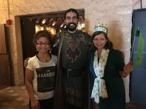 Lois Horn-Diaz posing for a picture at Medieval Times