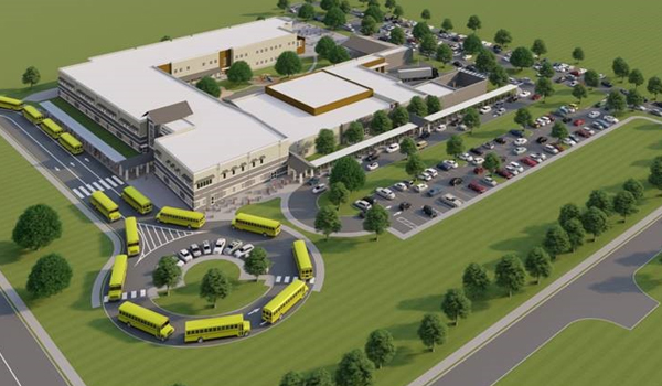 Architectural Rendering of New Elementary School
