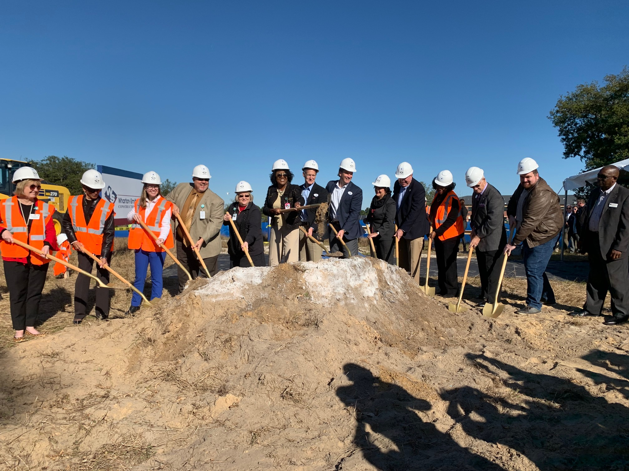PCPS officials breaking ground on a new high school in Davenport
